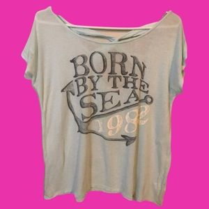 🎀10/$30Ardene Born by the Sea graphic loose Shirt